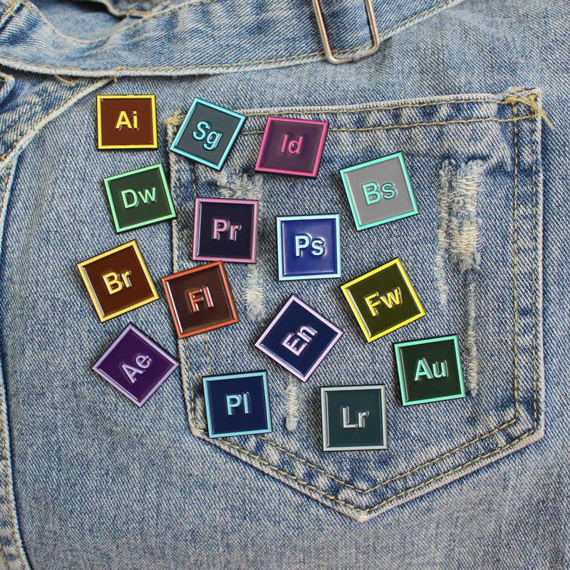 15 Stile Ps Ai Pr Au En Dw Software di Progettazione Spille Software Personalizzato Applicazione Smalto Spilli Spilla per I Progettisti di Artisti gioielli