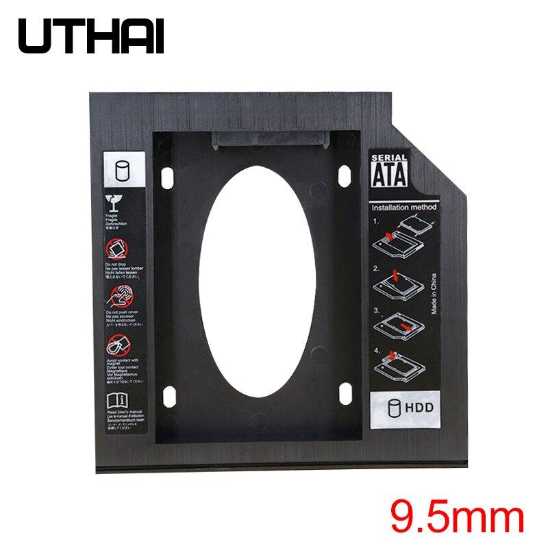 UTHAI T02 CD-ROM ドライブ SSD ハードドライブキャディノートパソコンの内部エンクロージャ 2.5 インチ SATA I II III HDD ドライブ 9.5 ミリメートル/8.9 ミリメートル/9.0 ミリメートル SATA3
