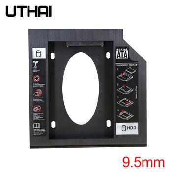 UTHAI T02 CD-ROM jazdy SSD dysk twardy Caddy laptopa obudowa 2 5 cal SATA I II III dysk HDD 9 5 mm 8 9mm 9 0mm SATA3 tanie i dobre opinie Prowadzić solid-state dyski T02-95 9 5mm Plastic
