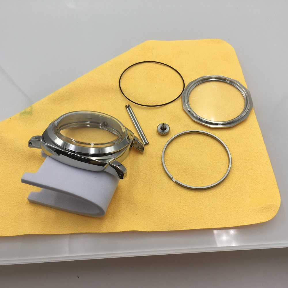 47mm 1950 Watch Cases Fit ETA 6497/6498 <font><b>ST3600</b></font> ST3620 917,918 Stainless Steel 316L Polishing Watch Cases AN47 image