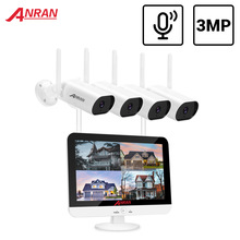 Surveillance-Kit Monitor Nvr Audio-Record Cctv-System Anran-Video Waterproof 3MP Wireless