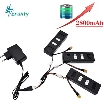 Original Battery Charger Sets For MJX R/C Bugs 3 B3 7.4V 2800mah Li-po Battery for MJX B3 RC Quadcopter Spare Parts Accessories