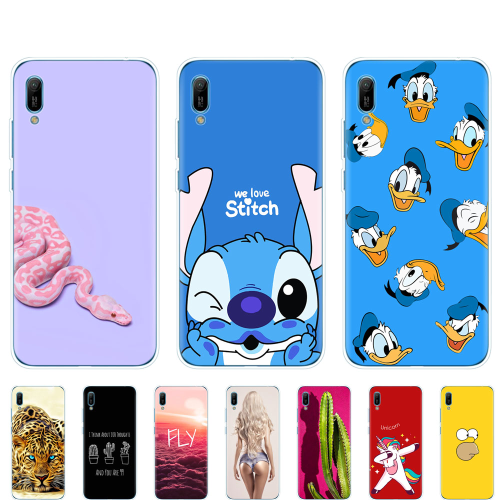 for <font><b>Huawei</b></font> <font><b>Y6</b></font> pro <font><b>2019</b></font> <font><b>case</b></font> bumper Silicon TPU phone <font><b>Cover</b></font> on For <font><b>Huawei</b></font> <font><b>Y6</b></font> <font><b>2019</b></font> MRD-LX1 MRD-LX1F Y 6 pro Y6Prime coque fundas image