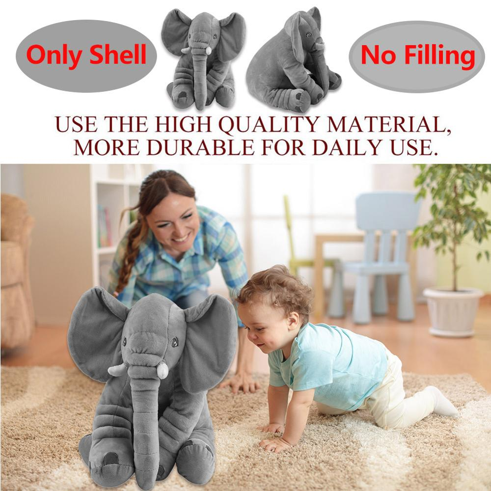 40/60cm Soft Appease Elephant Shell Playmate Calm Doll Baby Appease Toys Elephant Pillow Plush Toys Stuffed Dolls Drop Shipping