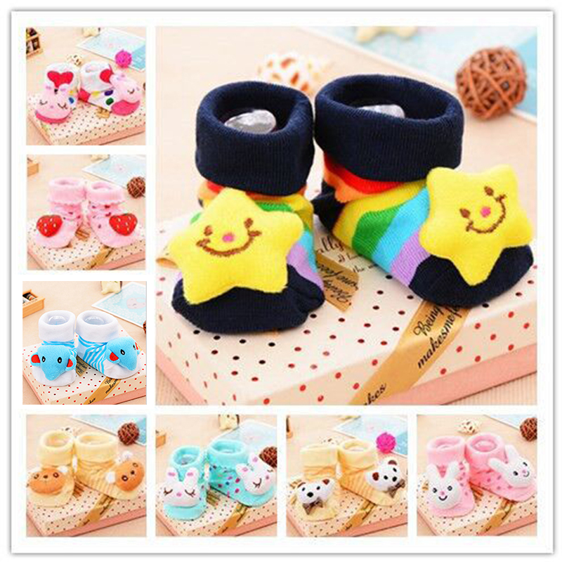 Baby Cute Socks Stereo Doll Rubber Anti Slip Floor Cartoon Socks Kids Toddlers Autumn Winter Spring Fashion Animal Newborn 0-18M
