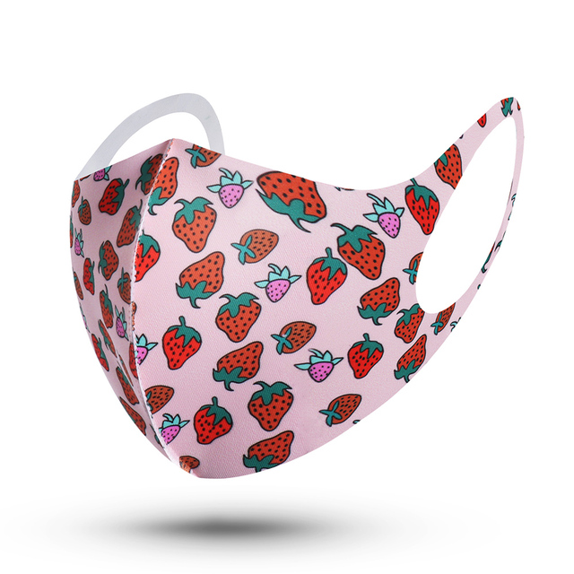 1Pcs Fashion Sponge Mouth Masks Unisex Face Cover Masks Washable Health Care Mouth Respirator Reusable 3