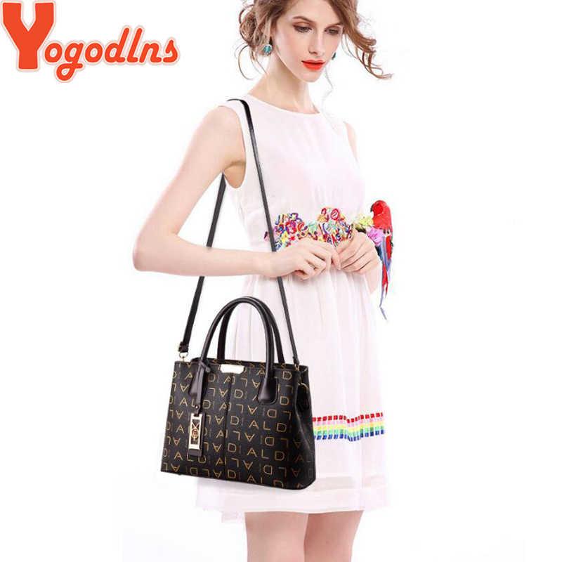 Yogodlns Luxury Handbags Women Letter Designer Bags Brand Women PU Leather Bag Fashion Shoulder Bag for Ladies 2019 Sac a Main