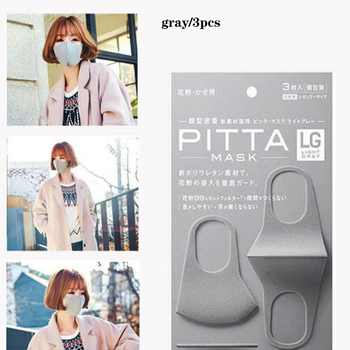3pcs Anti-pollution Dust Masks ph2.5 Unisex Respirator Washable And Reusable Face Mask Female Male Kids Safety Sponge Mouth Mask 1