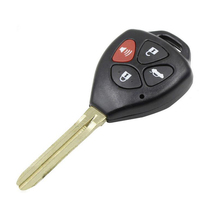 Replacement Key Blade 4 Button Remote key Shell case for Toyota Camry Crown Fob Key cover