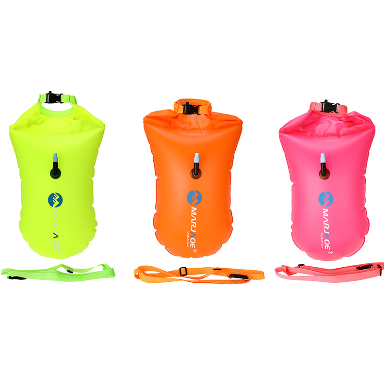 20L Thickened Inflatable Airbag Anti Drowning Lifebuoy Buoy Waterproof Storage Yellow /Orange /Plum Red Swimming Signal Air Bag