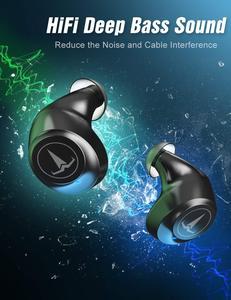 Image 3 - TAGRY Bluetooth kulaklık TWS kulakiçi Led ekran 30H oynatma binoral çağrı gerçek kablosuz kulaklık Metal şarj Mic ile durumda