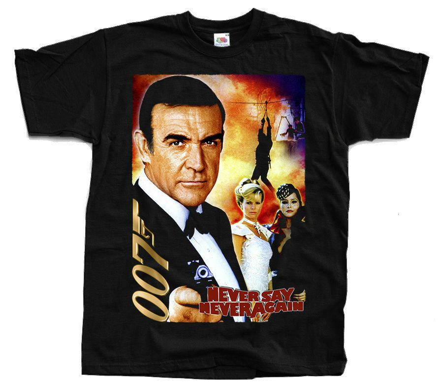 James Bond: Never Say Never Again V7, Movie, T-Shirt (BLACK) All Sizes S To 5XL image