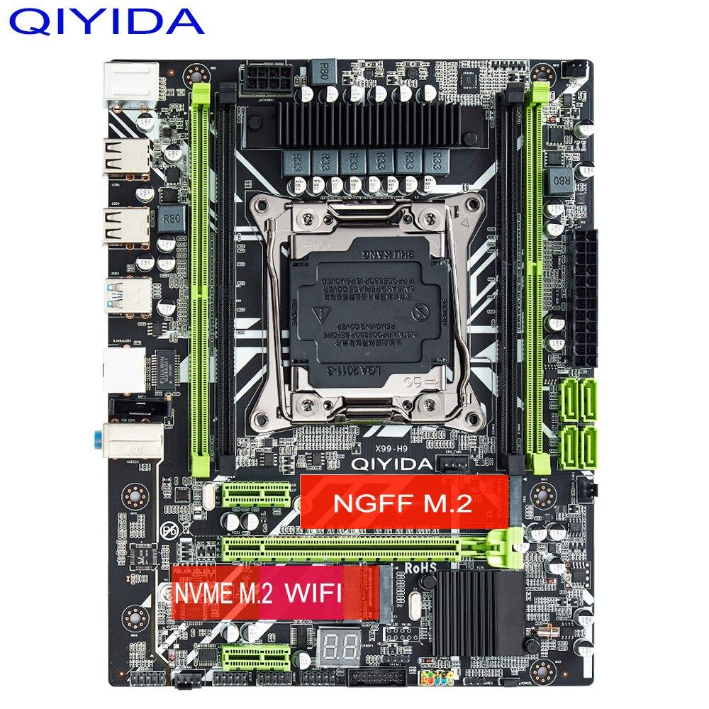 QIYIDA X99 Motherboard 4 Channels Intel XEON E5 X99 LGA2011-3 All Series DDR4 RECC NON-ECC memory NVME USB3.0 SATA