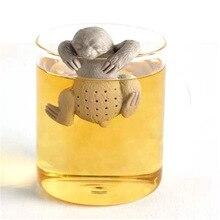 1PC Creative Silicone Tea Infuser Safety Tea Bag Tea Strainer for Tea Pot Cup Use Cute People Shape Home Kitchen Bar Tea Filter