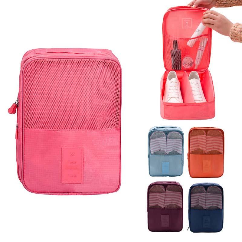 Travel Accessories Portable Nylon Waterproof Women Shoes Bag Organizer Storage Pouch Pocket Packing Cubes Handle Zipper Bag