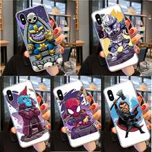 Yinuoda Marvel Hero Kartun Tpu Lembut Fundas Phone Case Cover UNTUK iPhone 11 Pro XS MAX 8 7 6 6S Plus X 5 5S SE XR Cover(China)