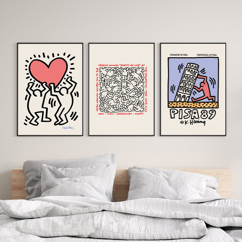 Keith Haring Exhibition Posters and Prints Gallery Wall Art Pictures Decor