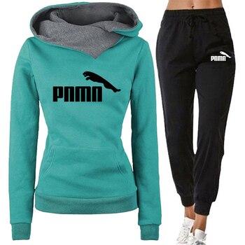 New Fashion Women Tracksuit Winter 2 Piece Set Pullover Hoodie Sportspant Sweatshirt Pants Suit Female Hoodie Set Chandal Mujer 1