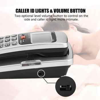 FSK/DTMF Caller ID Telephone Corded Phone Big Button Desk Put Landline Fashion Extension Telephone Home Wall Mounted Telephoe