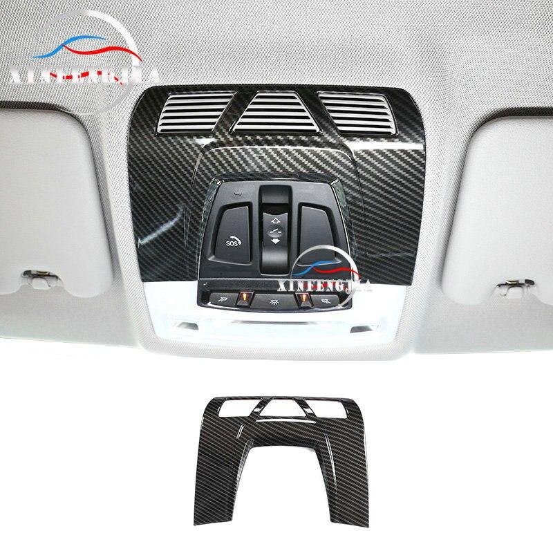 Карбоновый цвет, для BMW 1 2 3 4 серии F30 F36 13-19, автомобильный внутренний передний светильник для чтения, панель, обшивка, внутренняя лампа для кр...