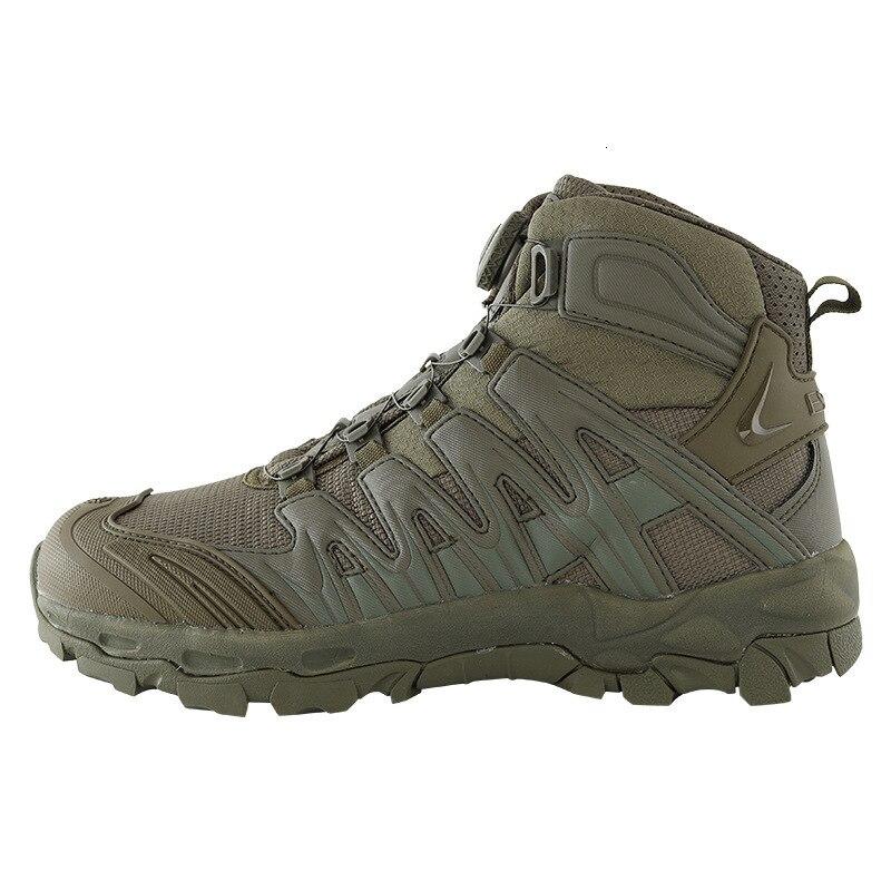Táticas de Treinamento de Combate Masculino ao ar Atualizado Botas Livre Acampamento Anti-wear Rápida Resposta Caminhadas Sapatos Pesca Caça Tênis