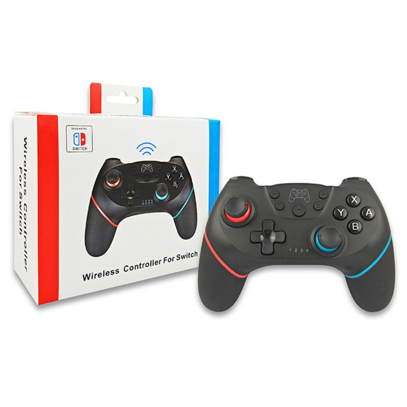 Wireless Pro Controller Gamepad Joypad Remote For Nintend Switch Console Black E65A