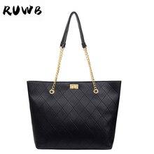 RUWB European and American Style Street Fashion Crossbody Bags for Women Leather Handbags Ladies Plaid Shoulder Bag Bolsos Mujer
