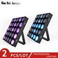 Новый профессиональный LED 25x10 Вт RGB 3в1 DMX сценическое освещение DMX512 Master-Slave Led плоский для DJ Disco Party KTV (2 шт./лот)