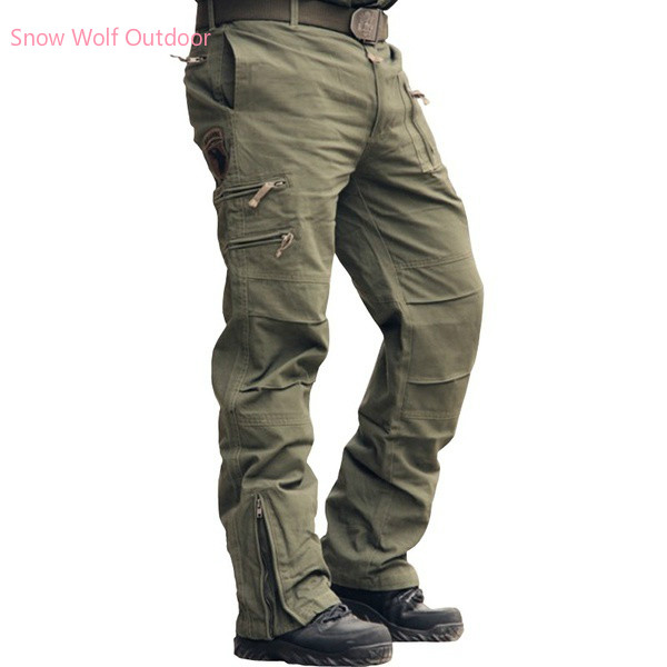 Airborne Jeans Casual Training Cotton Breathable Multi Pocket Military Army Camouflage Cargo Pants Trousers For Men 28-38