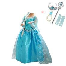Meninas princesa traje para crianças vestido de halloween disfraz childen aniversário vestidos elza carnaval festa robe fille 4-10t