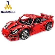 Buildmoc blocos de construção moc-997 gt3 super carro de corrida modelo técnica crianças brinquedos tijolos presente natal