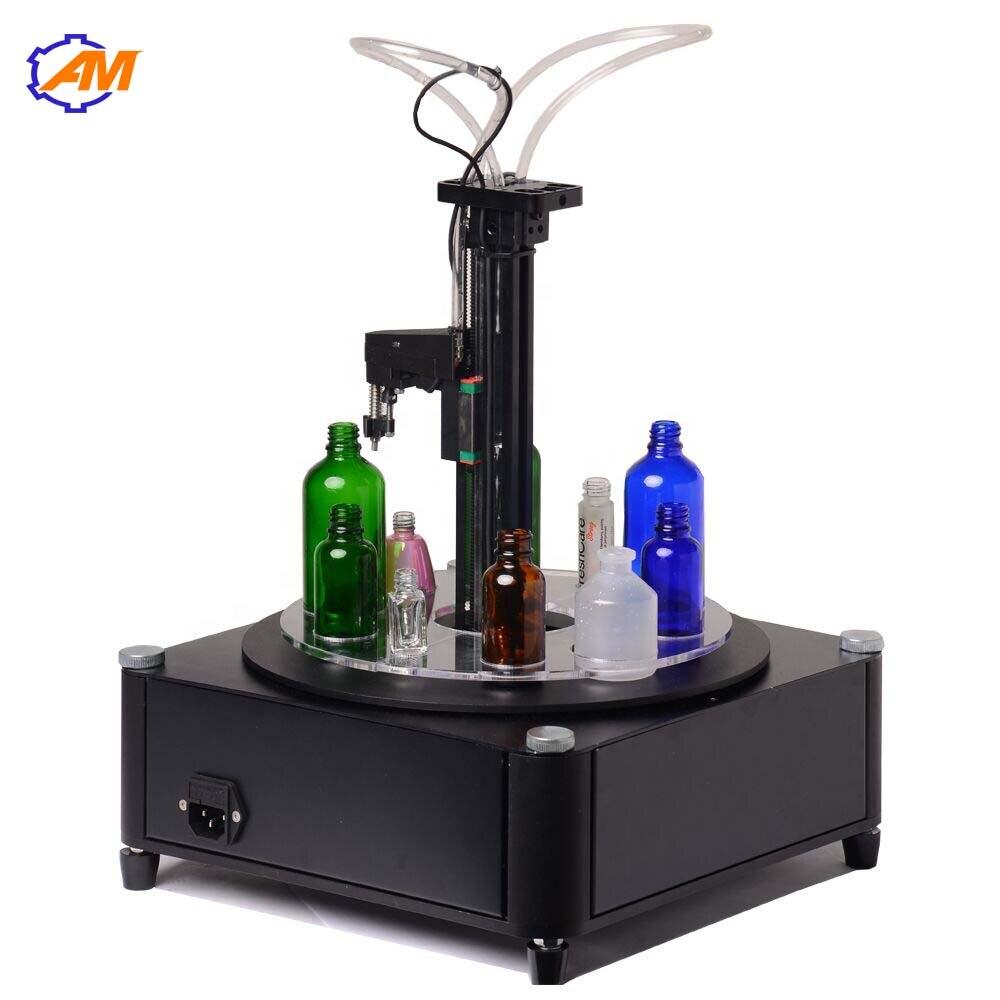 Automatic Small Perfume Liquid essential oil emulsion Plastic Glass Bottles Ampoule Filling Machine