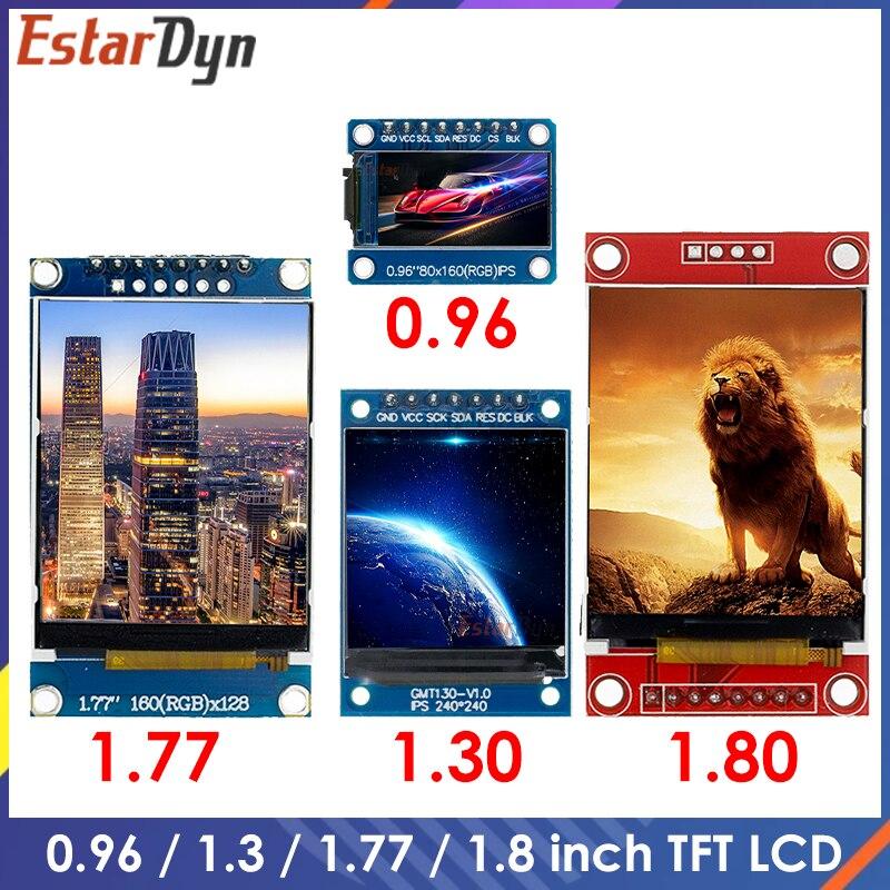 TFT-дисплей 0,96 1,3 1,77 1,8 дюймов IPS 7P SPI HD 65K полноцветный ЖК-модуль ST7735 / ST7789 Привод IC 80*160 240*240 (не OLED)