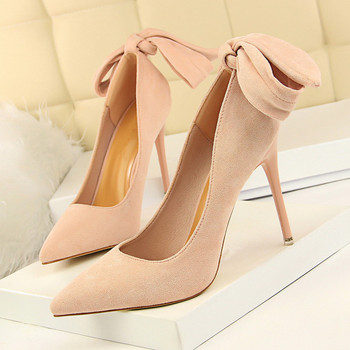Office Shoes Womens Sexy Shoes High Heels Party Shoe Pumps Woman Pumps Stiletto Butterfly-knot Green Shoe Stiletto DS-A0165 фото