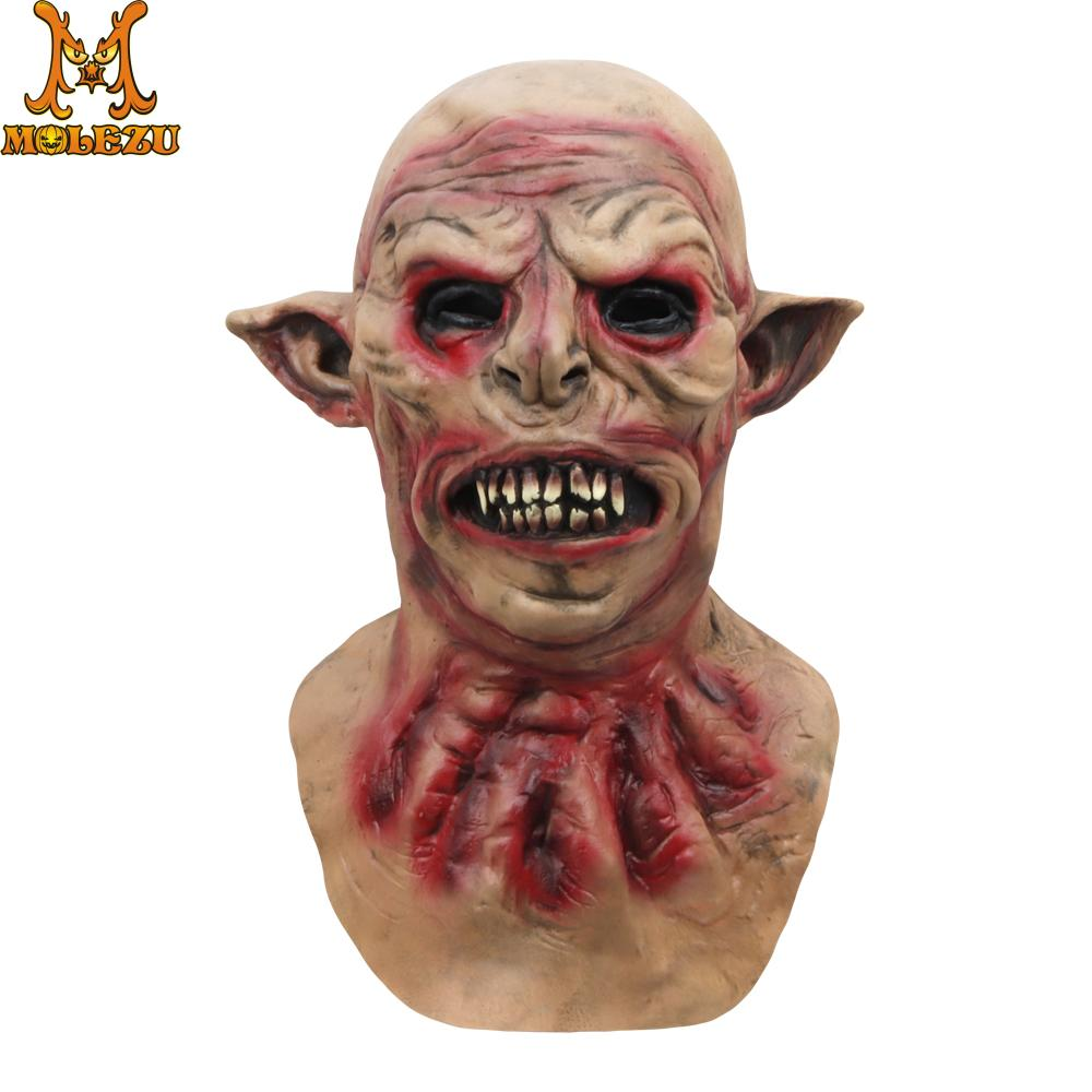 Molezu Halloween Horrible Sharp Ears Monster Mask Masquerade Supplies Party Props Cosplay Costumes For Party
