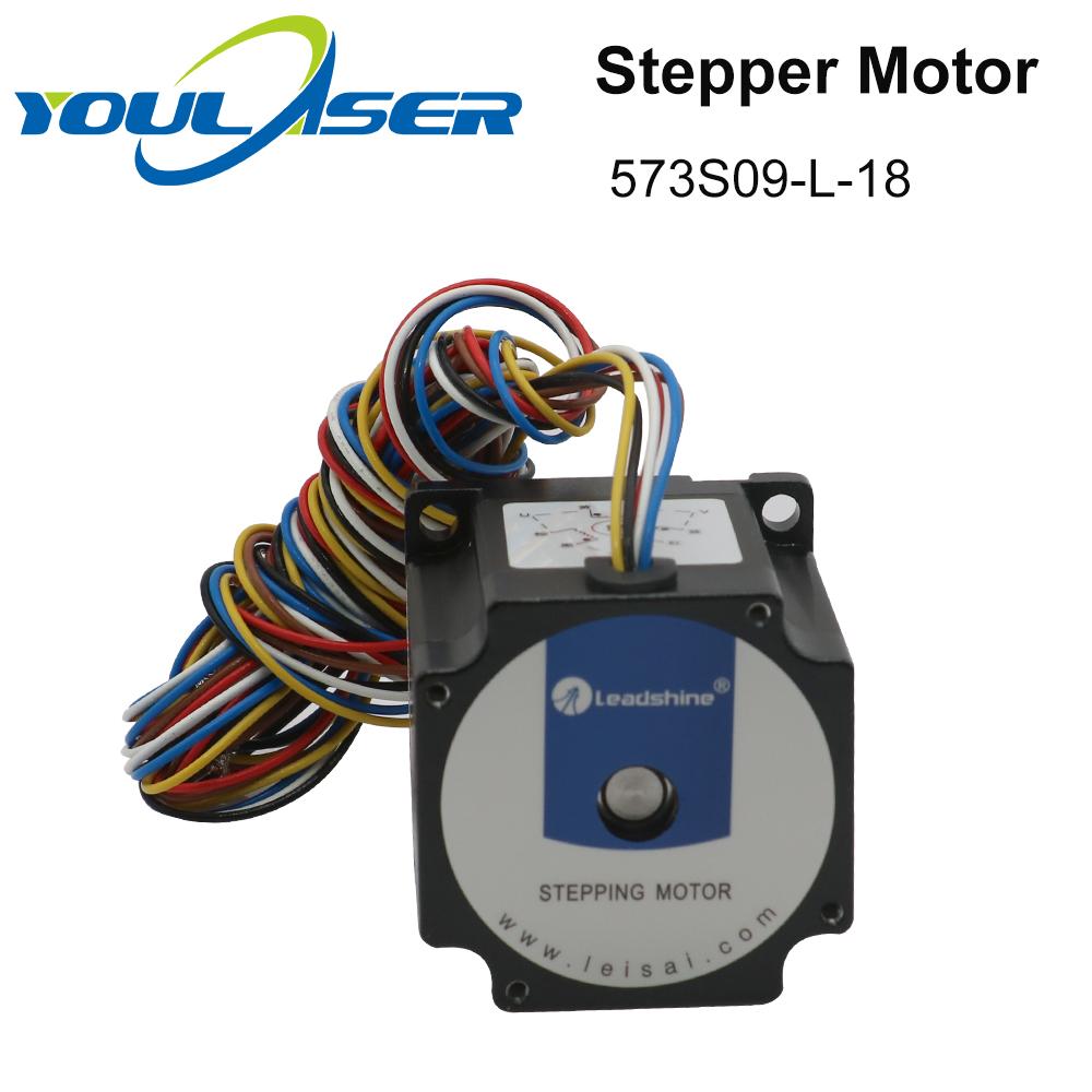 Hfc798f74a65b4b70902ab4f64c8d9ca9H - YOULASER Leadshine 3 Phase Stepper Motor 573S09-L-18 for NEMA23 3.5A Length 50mm Shaft 6.35mm