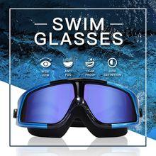 Gafas de natación electroplat DMAR, gafas de natación Anti niebla para buceo, gafas profesionales de silicona impermeables