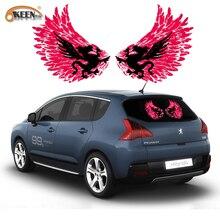 Flying Dragon Auto Auto Muziek Rhythm Sticker Led Flash Light Lamp Equalizer El Sheet Achterruit Styling Cool Sticker