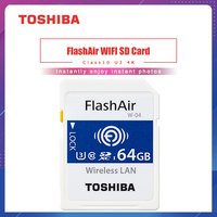 TOSHIBA Flash Air W 04 Memory Card 32GB 64GB wifi SD Card 90MB/s Wireless SDHC Memory Card Tarjeta sd WIFI Carte SD For Camera