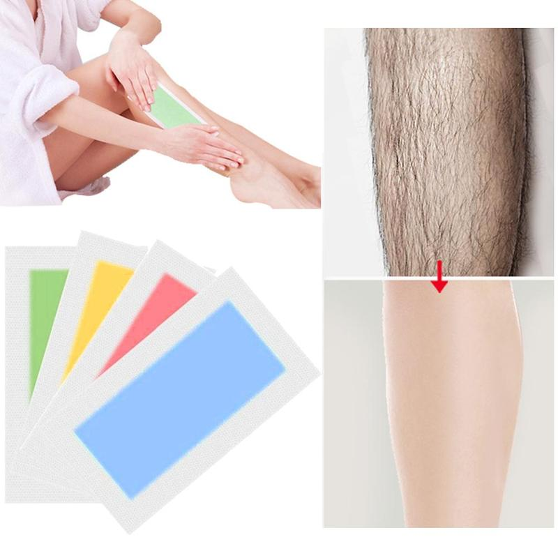 Depilatory Cartine Wax Strips For Hair Removal Wax Strips Body Paper Tools Leg Wax Cold Double For Face Arm Side Beauty Pap H8H5