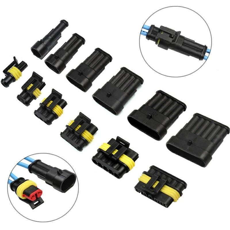 2//3//5//6 Pins Quad Bike Waterproof Electrical Cable Connector Terminals 5Pcs 34E