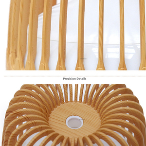 Image 4 - 500ML Aroma Essential Oil Diffuser Ultrasonic Air Humidifier Wood Grain 7 Color Changing LED Light Cool Mist Difusor for Home