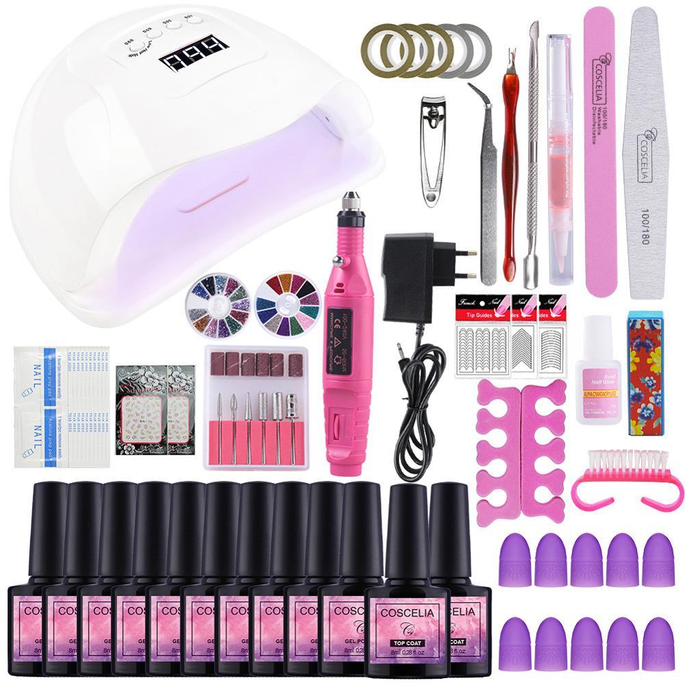 Manicure Set UV LED Lamp Dryer With Nail Gel Polish Kit Soak Off  Nail Tools Set Electric Nail Drill For Nail Art Tools