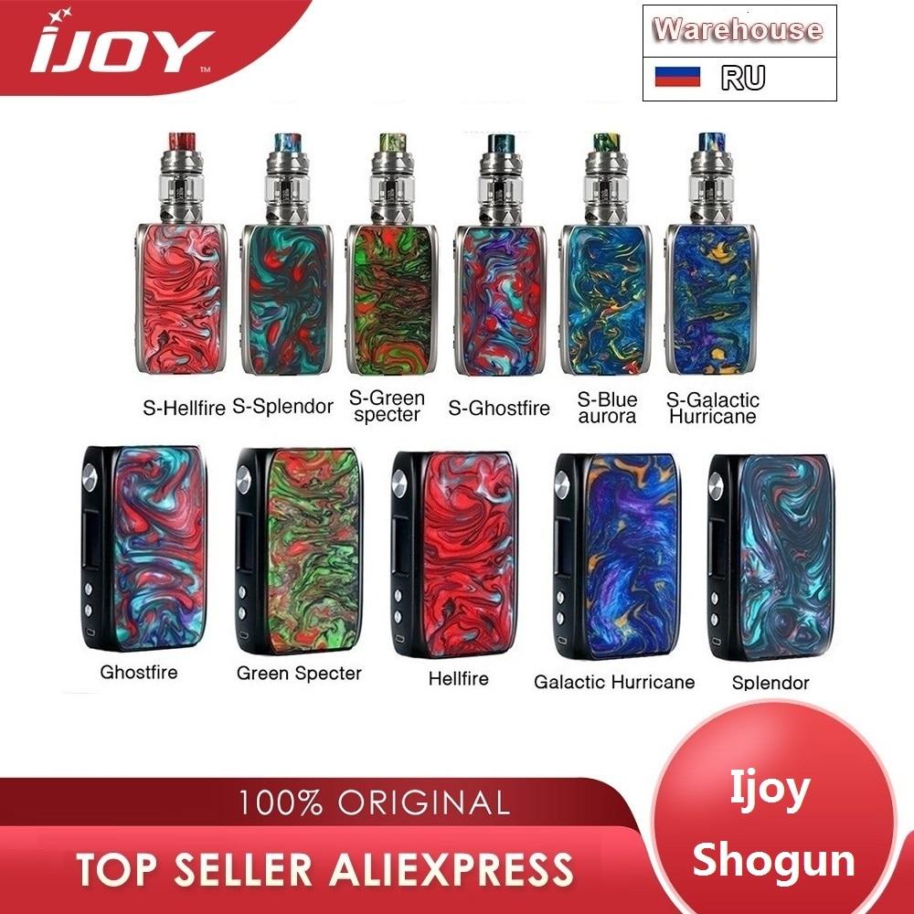 Novo original ijoy shogun univ 180 w tc kit com shogun univ mod & 5.5ml katana tanque não 18650 caixa de bateria mod vape kit vs luxe kit