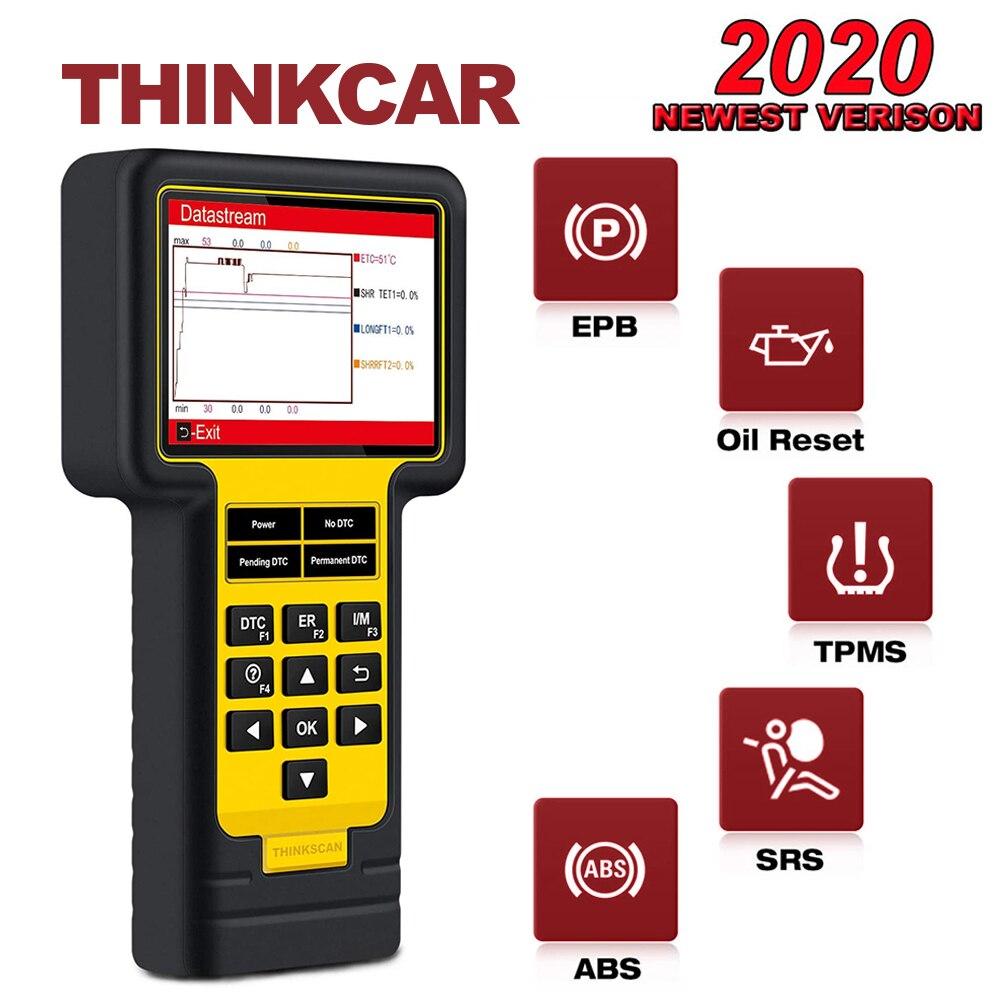 THINKCAR ThinkScan TS600 ABS/SRS диагностический сканер OBD2 PK CR619 AL619 OIL/TPMS/EPB Функция сброса OBDII диагностический инструмент