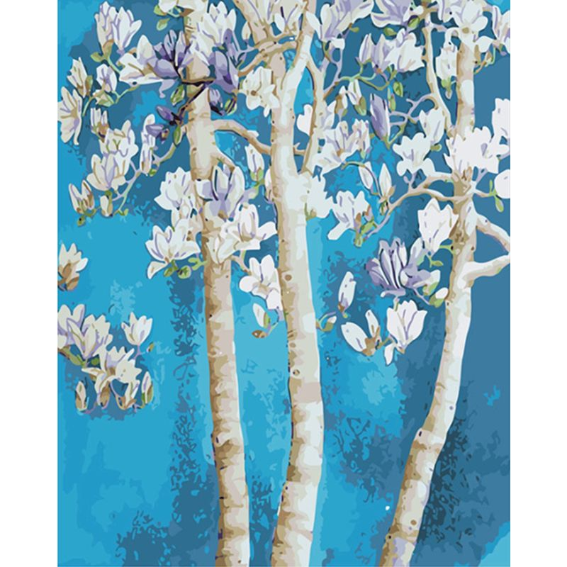 RUOPOTY Painting By Numbers Frame Sycamore Flower Diy Modern Oil Painting HandPainted Home Decor Art Acrylic gift Oil Painting-0