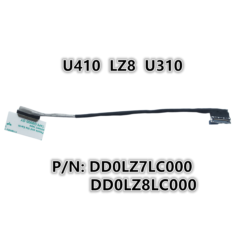 New Laptop <font><b>LCD</b></font> LED LVDS Video Screen Display Flex wire Cable For <font><b>Lenovo</b></font> U410 LZ8 <font><b>U310</b></font> P/N:DD0LZ7LC000 /DD0LZ8LC000 image