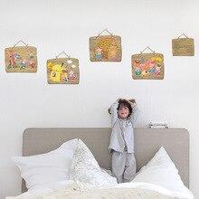 [SK9261] Три поросенка детская комната у входа в спальню гардероб прикроватный для школьного Кабинета, детского сада украшения наклейки на стену