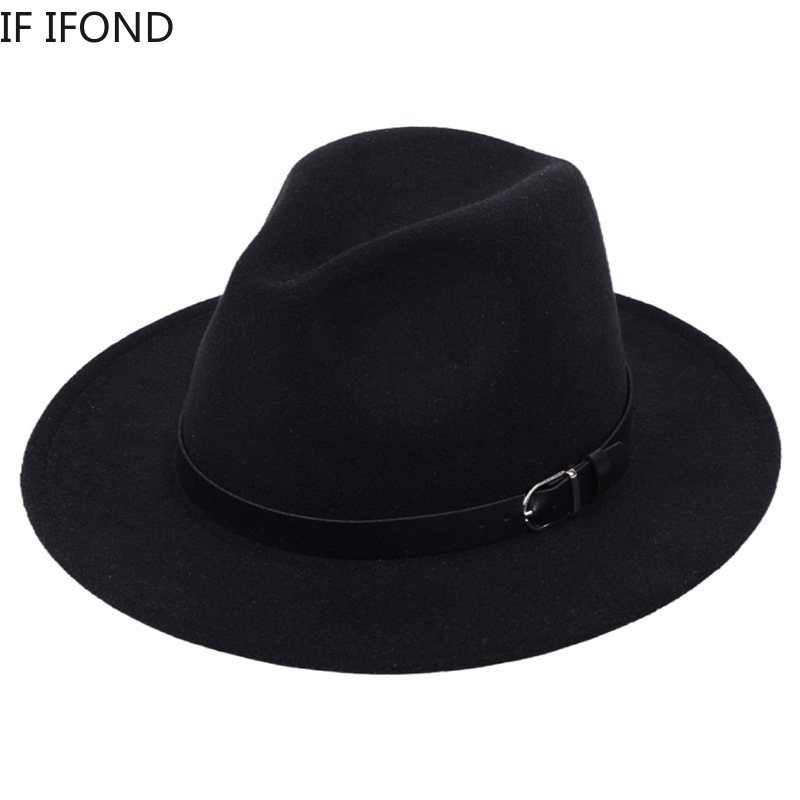 Classic British Fedora Hat Men Women Imitation Woolen Winter Felt Hats Men Fashion Jazz Hat Fedoras Chapeau wholesale 3