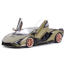 цена на Bburago 1:18 Lamborghini-Sián FKP 37 Sports Car Static Die-cast Alloy Collectible Model Car